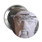 "Greek Mathematician Pythagoras 2.25"" Button (100 p"
