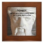 Greek Mathematician Pythagoras Framed Tile