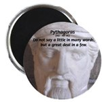 "Greek Mathematician Pythagoras 2.25"" Magnet (100 p"