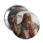"Plato: Philosophy / Equality 2.25"" Button (10 pack"