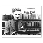 George Orwell: Language Thought Small Poster