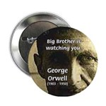 Orwell Big Brother 1984 Button