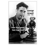 Modern Fable Writer Orwell Large Poster