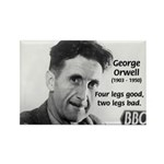 Modern Fable Writer Orwell Rectangle Magnet (10 pa