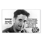 Politics / Language: Orwell Rectangle Sticker