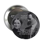 Man and Woman: Nietzsche Button