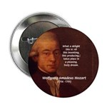 "Mozart's Work: Symphony, Piano 2.25"" Button (100 p"