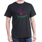 Mardi Gras Mask Black T-Shirt