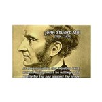 Utilitarianism John Mill Rectangle Magnet (10 pack