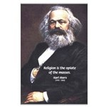 Karl Marx Religion Opiate Masses Large Poster