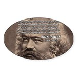 Civilization and Marx Oval Sticker