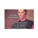 Political Theory: Machiavelli Rectangle Magnet (10