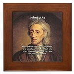 Change and John Locke Framed Tile