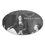 Leibniz Origins of Calculus Oval Sticker