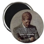 Man / War John F. Kennedy Magnet
