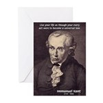 Universal Law: Kant Greeting Cards (Pk of 10)
