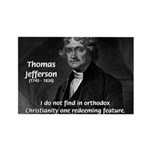 President Thomas Jefferson Rectangle Magnet (10 pa