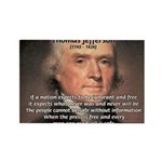 Media Thomas Jefferson Rectangle Magnet (100 pack)