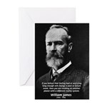 Pragmatic William James Greeting Cards (Package of
