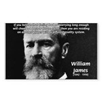 Pragmatic William James Rectangle Sticker