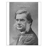 Thomas Huxley and Darwin Small Poster