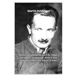 Man / Language: Heidegger Large Poster