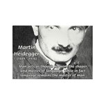 Man / Language: Heidegger Rectangle Magnet (10 pac