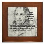 History Lessons Georg Hegel Framed Tile