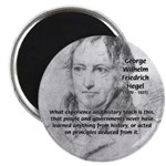 "History Lessons Georg Hegel 2.25"" Magnet (100 pack"