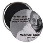 "Loyalty to Cause: Gandhi 2.25"" Magnet (10 pack)"