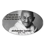 Loyalty to Cause: Gandhi Oval Sticker