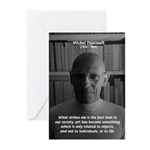 Social Criticism: Foucault Greeting Cards (Package