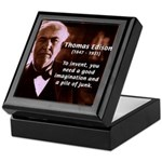 Imagination Thomas Edison Keepsake Box