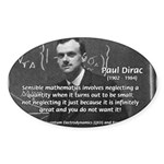 Paul Dirac Quantum Theory Oval Sticker