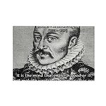 Power of Mind: Montaigne Rectangle Magnet (10 pack