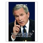 Terrorism George W. Bush Small Poster