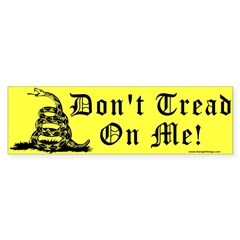 Don't Tread On Me Gadsden Sticker (Bumper 50 pk)
