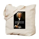 Composer J.S. Bach Tote Bag