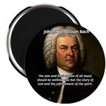 Glory God Music J. S. Bach Magnet