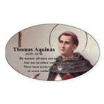 Theology Thomas Aquinas Oval Sticker