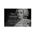 Courage Marie Antoinette Rectangle Magnet (10 pack