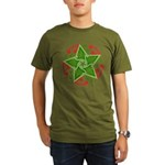 Celtic Christmas Star Organic Men's T-Shirt (dark)