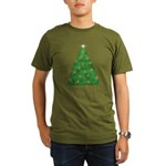 Celtic Christmas Tree Organic Men's T-Shirt (dark)