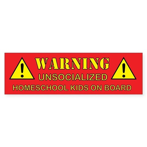 Unsocialized Bumper Sticker (Red)