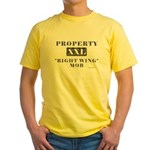 Right Wing Mob Yellow T-Shirt