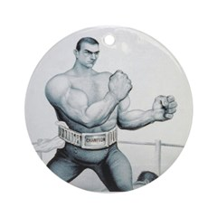 TOP Boxing Slogan Ornament (Round)
