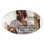 Aristotle Education Quote Oval Sticker