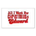 Edward Christmas Rectangle Sticker 50 pk)