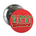 Christmas Edward 2.25&quot; Button (100 pack)