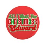 Christmas Edward 3.5&quot; Button